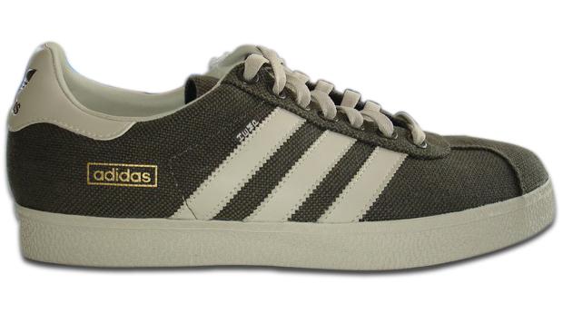 8b3be6b39ce ... sexos e pra festejar o retorno do Gazelle Hemp a Adidas Original manda  para as lojas também uma mini-coleção de vestuário com a mesma  pegada  natural .