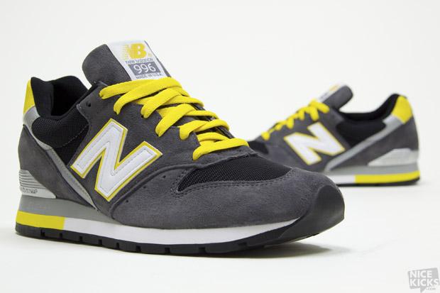 New Balance 996 Grey Black Yellow - SneakersBR 62c67123ca