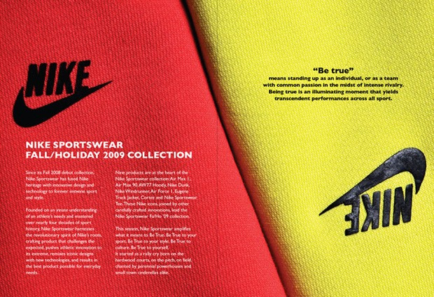 Nike sportswear fall holiday 09 lookbook sneakersbr for Nike brochure design