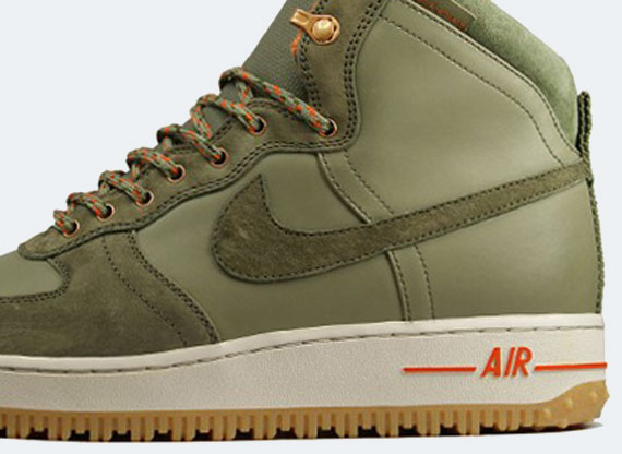Men's Nike Air Force 1 HI DCNS Military Boot Silver Sage / Medium Olive Shoes