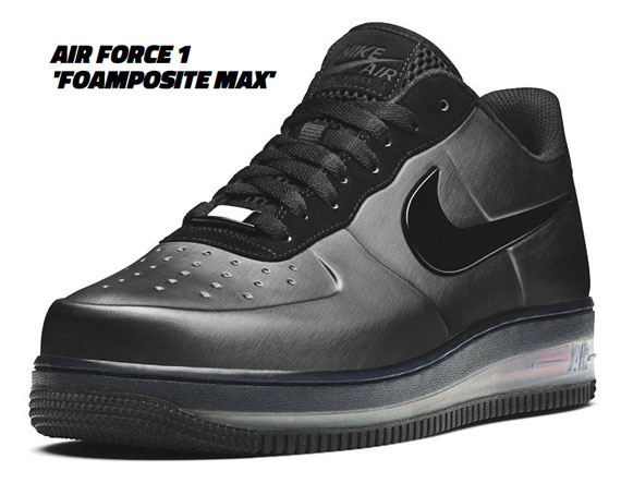nike air force one foamposite max black friday