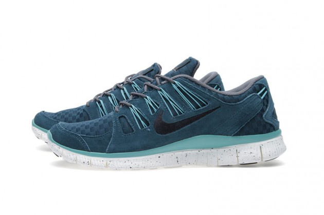 Nike Free 5.0 EXT Woven Mid - Turquoise Anthracite - SneakersBR 243a56880404b
