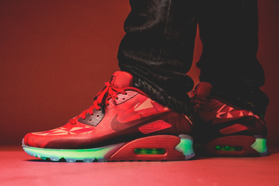 """Nike Air Max 90 Ice """"Gym Red"""" SneakersBR"""
