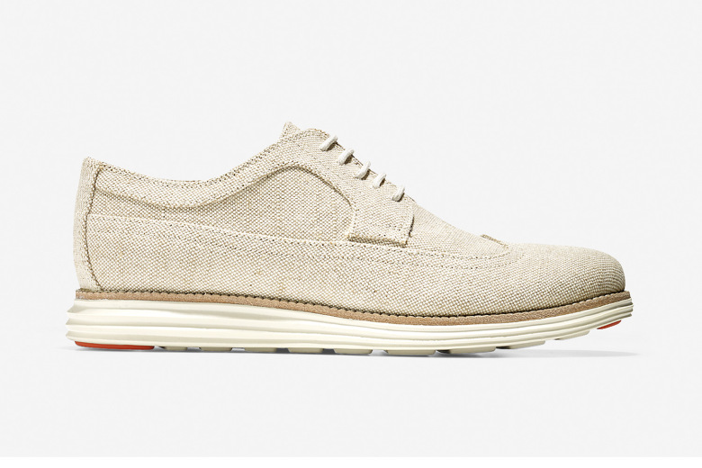 "Cole Haan LunarGrand Long Wingtip ""Canvas Collection"""