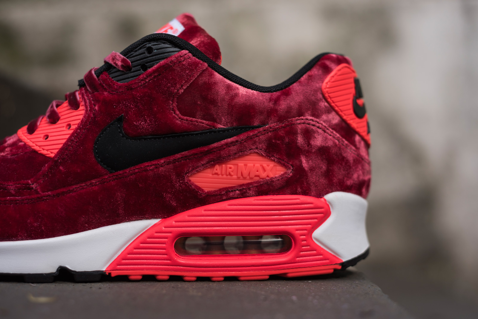 f3cc1a7f2978 greece nike air max 90 25th anniversary infrared velvet sneakersbr 32a93  adf16