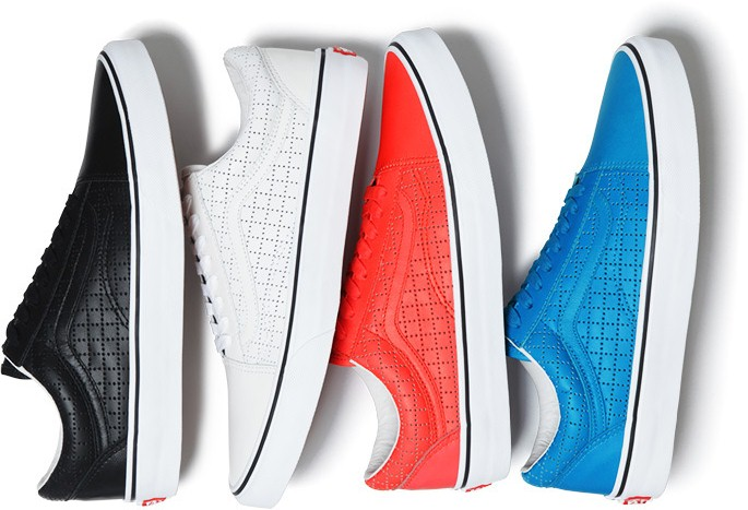 "Vans Old Skool X Supreme – ""Perforated Leather"" Pack"