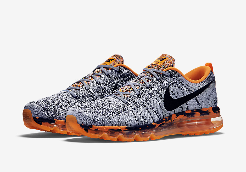 b27e47d025c Nike Flyknit Air Max Premium - Wolf Grey Total Orange - SneakersBR