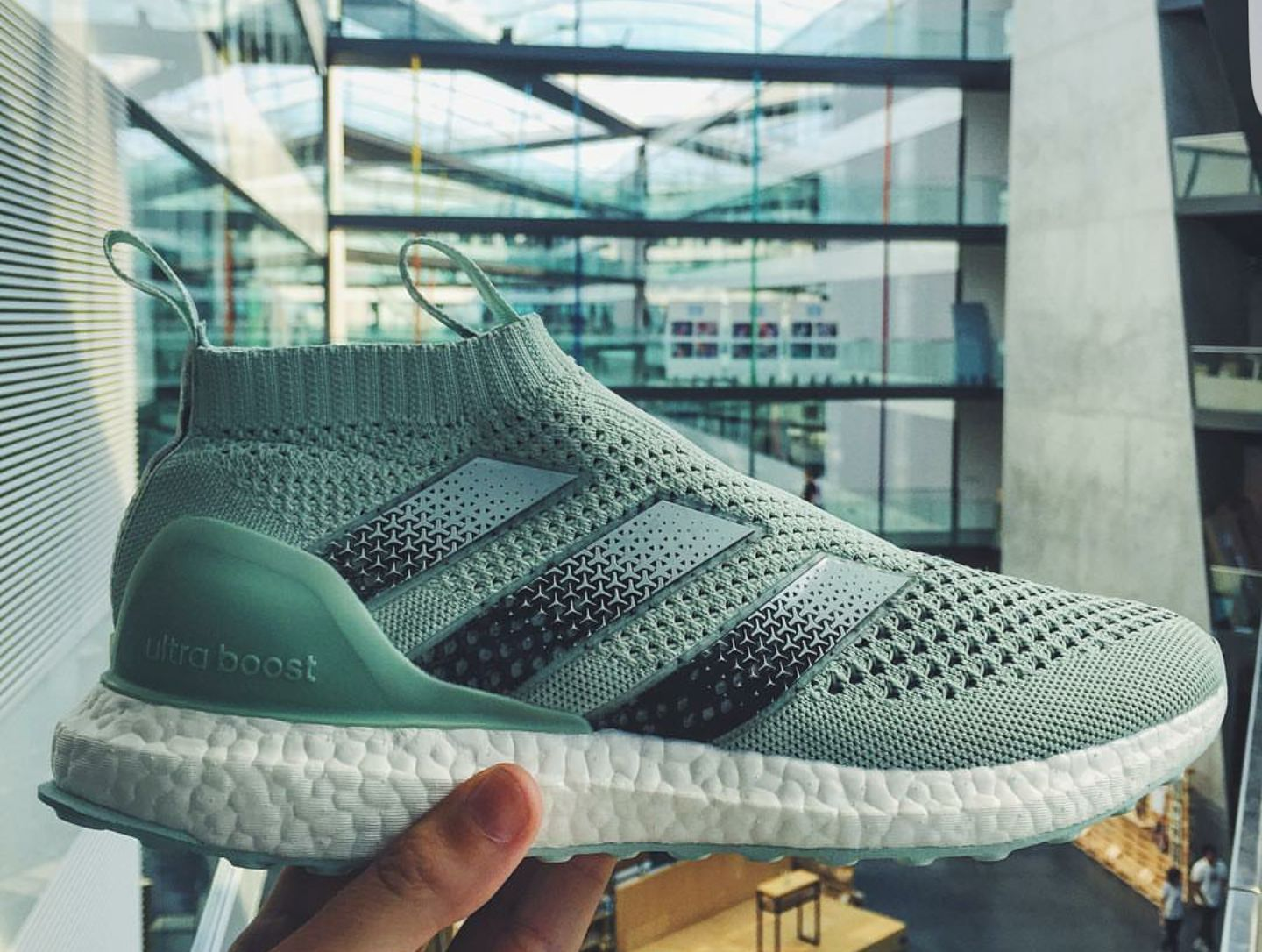 adidas ACE 16+ Purecontrol Ultra Boost  Vapour Green  - SneakersBR 001f6cbb34944