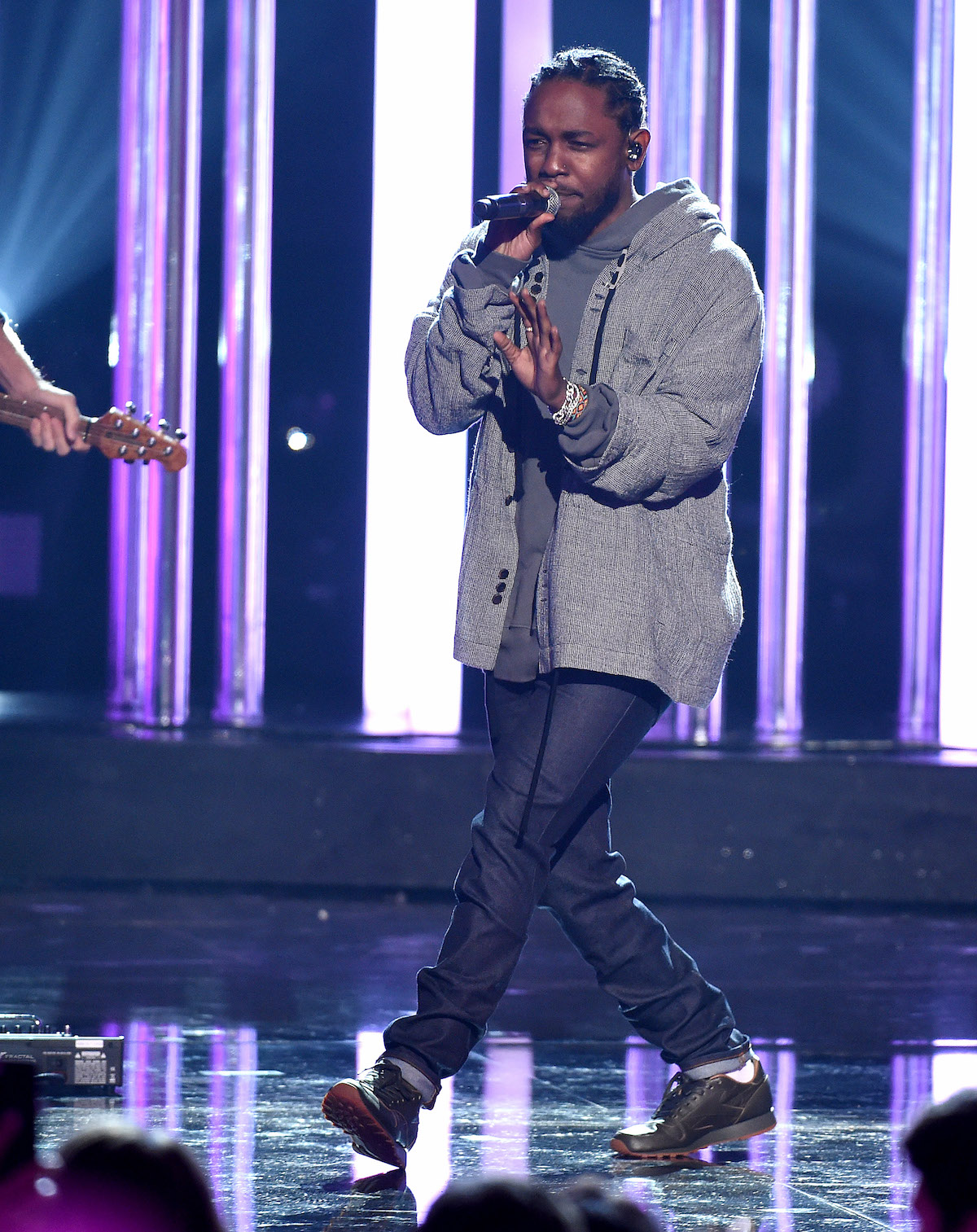 Mandatory Credit: Photo by Frank Micelotta/REX/Shutterstock (7449898cb) Kendrick Lamar American Music Awards, Show, Los Angeles, USA - 20 Nov 2016